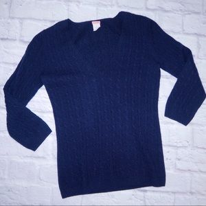 J.CREW Cashmere Navy Sweater